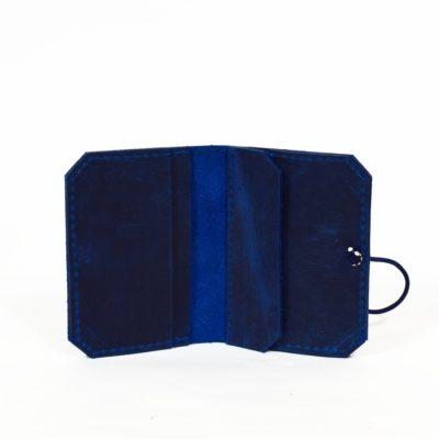 Blaues Lederportemonnaie