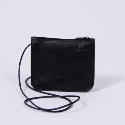 Schwarzes Leder-Täschchen