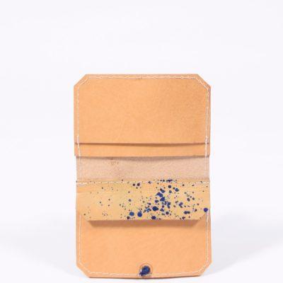 Gepunktetes Leder-Portemonnaie