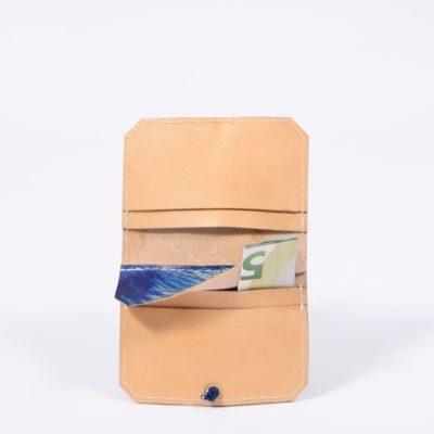 Bemaltes Leder-Portemonnaie