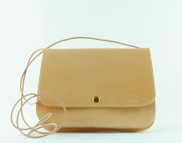 Hellbraune Leder-Handtasche