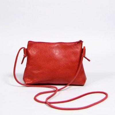 Rote Leder-Handtasche