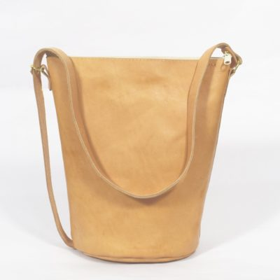 Braune Leder-Handtasche