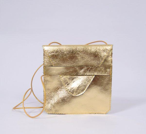 Goldenes Leder-Täschchen