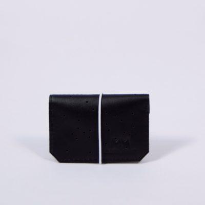 Schwarzes Leder-Portemonnaie