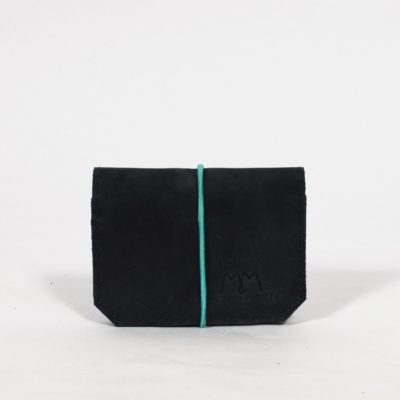 Dunkelgraues Lederportemonnaie