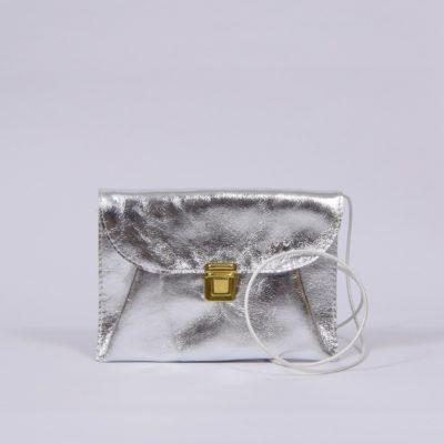 Silbernes Leder-Täschchen
