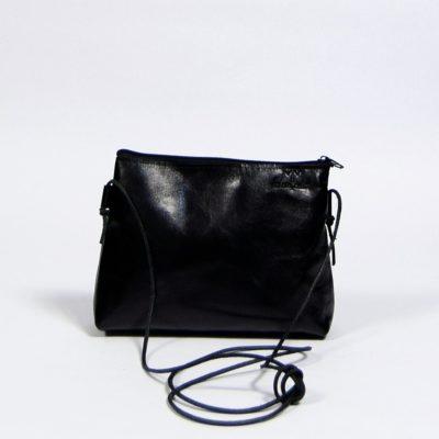 Schwarze Leder-Handtasche