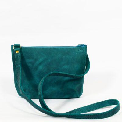 Türkise Leder-Handtasche