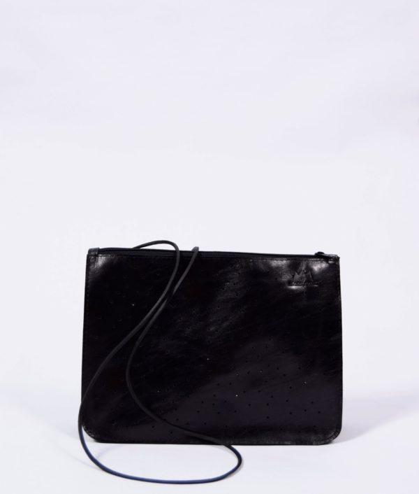 Schwarze Leder-Tasche