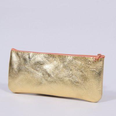 Goldenes Leder-Mäppchen