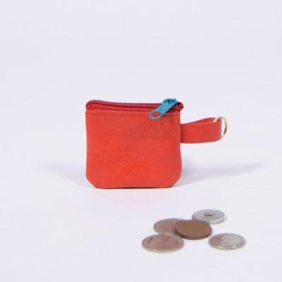 Roter Leder-Schlüsselanhänger
