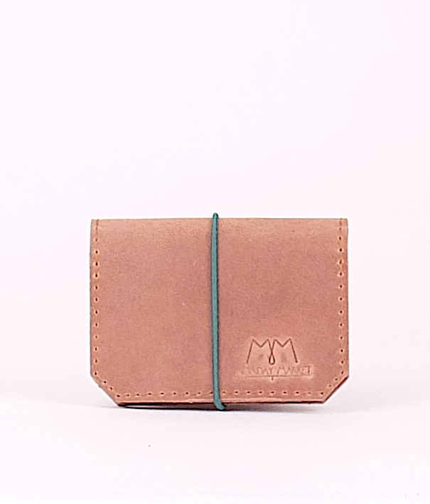 Rosa Leder-Portemonnaie