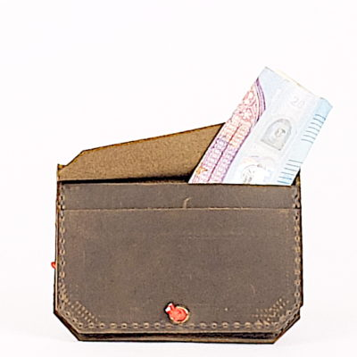 Grünes Leder-Portemonnaie