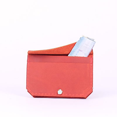Rotes Leder-Portemonnaie