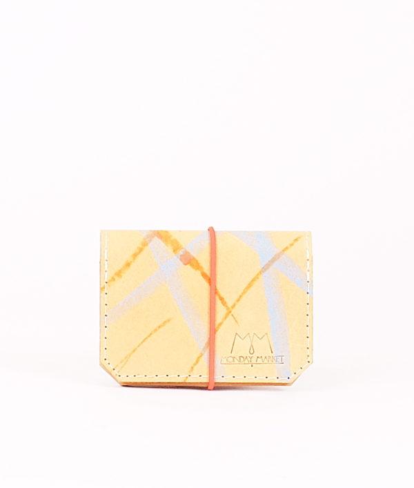 Gestreiftes Leder-Portemonnaie
