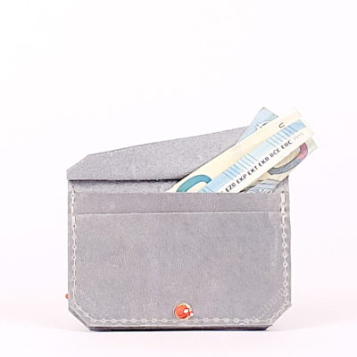 Blaues Leder-Portemonnaie