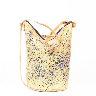 Gepunktete Leder-Handtasche