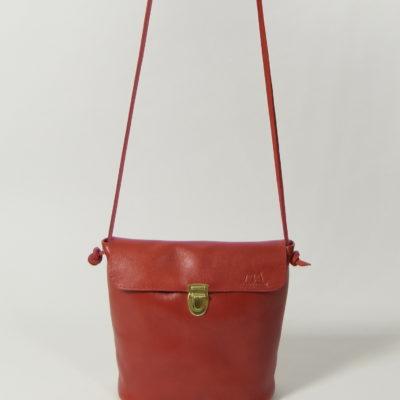 Rote Damen-Ledertasche