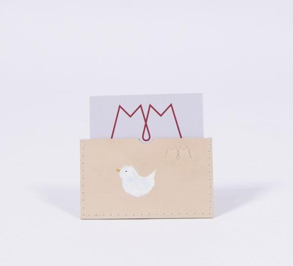 Handbemaltes EC-Karten-Etui aus Leder mit Vogel-MotivHandbemalte EC-Karten-Etuis aus Leder mit Vogel-Motiv